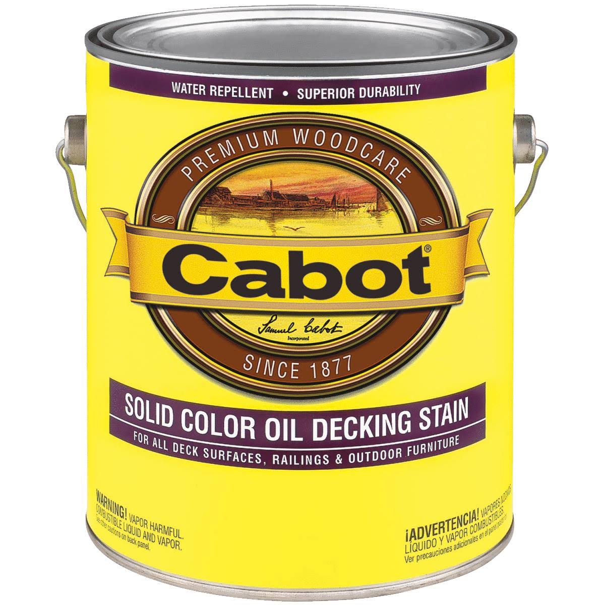 Cabot Decking Stain - Solid Color Oil