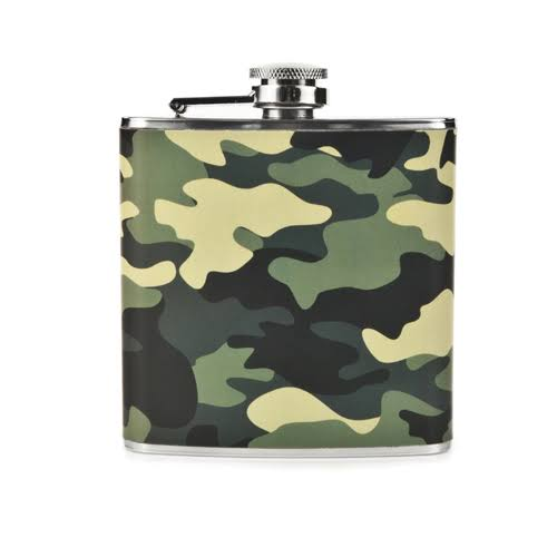 Foster and Rye Rugged Flask - Camo, 6oz