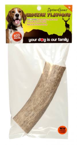 Antler Chewz Chicken Flavored Antler Dog Treats - Medium