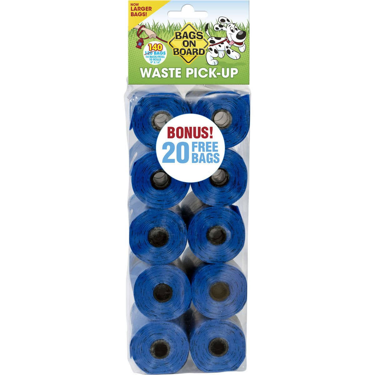Bags on Board Bag Refill Pack - Blue, 140 Count