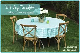 Fitted Outdoor Tablecloth With Umbrella Hole by Dining Room Charming Vinyl Tablecloth For Table Covering Idea