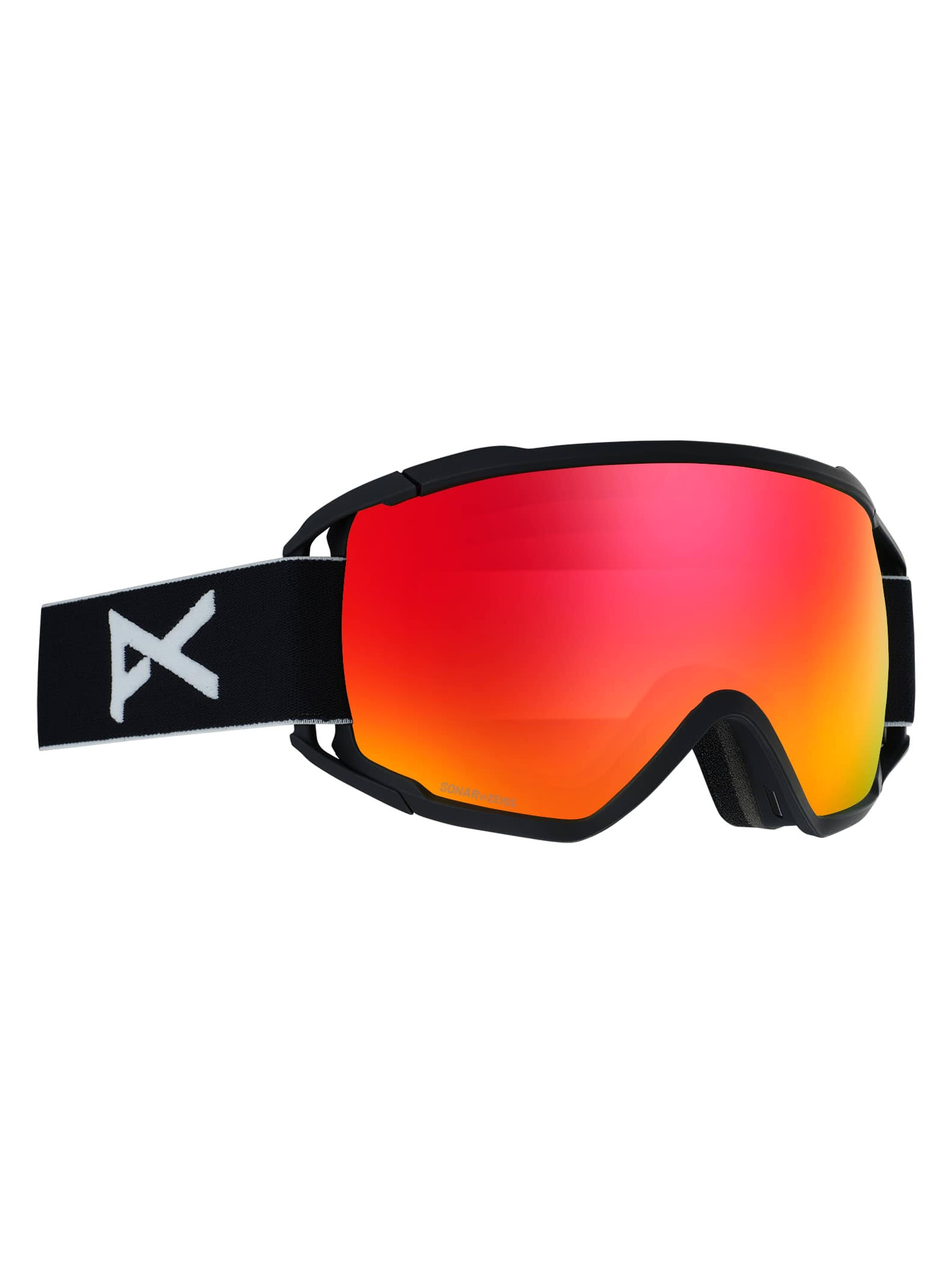 Anon Circuit Goggles - Black and Sonar Red, One Size