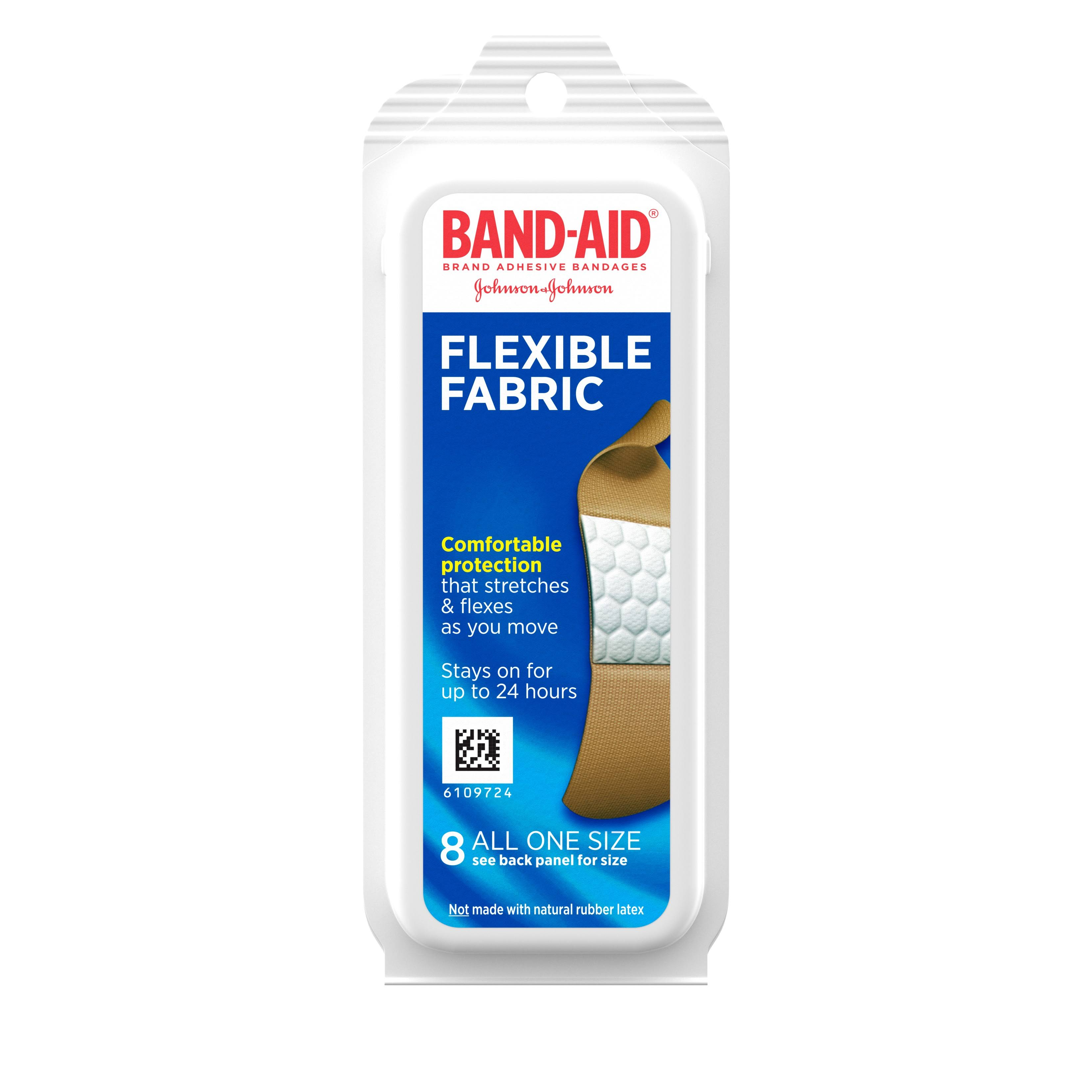 Band Aid Flexible Fabric Bandages - 8 Pieces