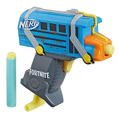Fortnite Micro Battle Bus Nerf MicroShots Dart-Firing Toy Blaster