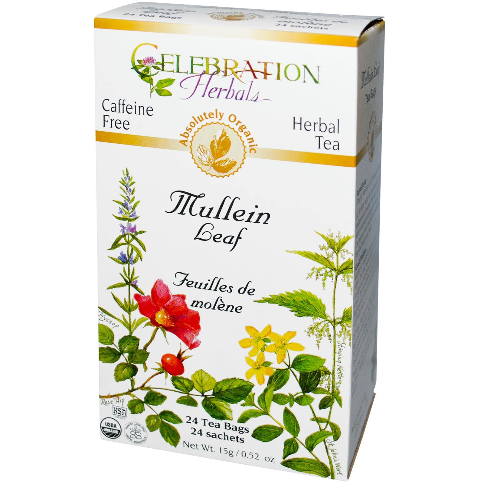 Celebration Herbals Organic Mullein Leaf Tea - 24 tea bags