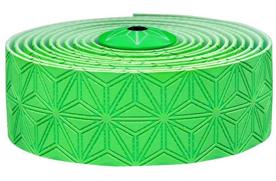 SUPACAZ Super Sticky Kush Single Colour Bar Tape - Neon Green, One Size