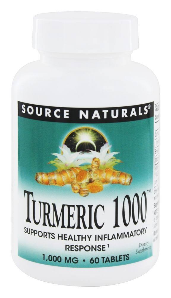 Source Naturals Turmeric Extract Tablets - 1000mg, x60