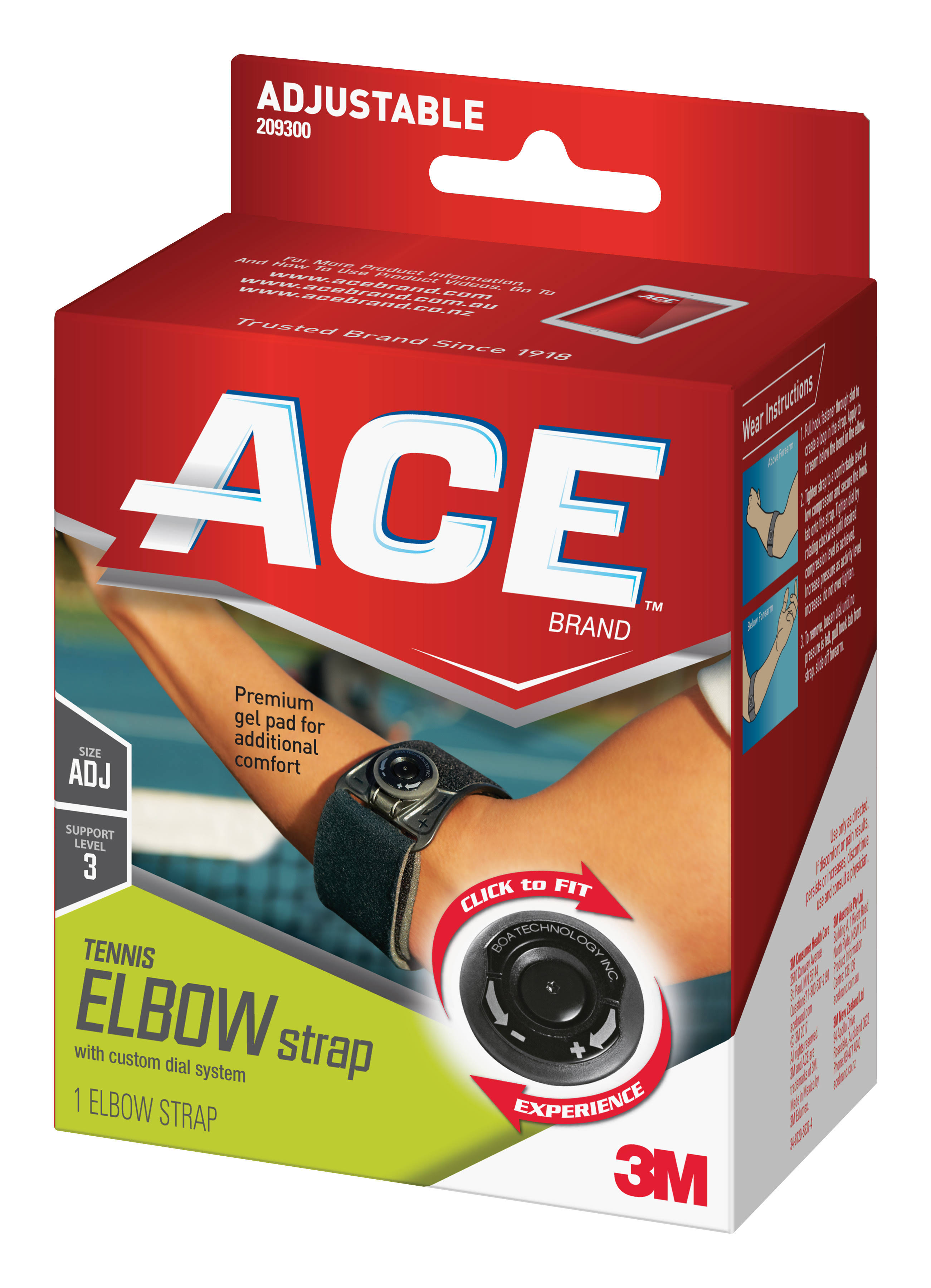 ACE Tennis Elbow Strap With Custom Dial System - 1 Count