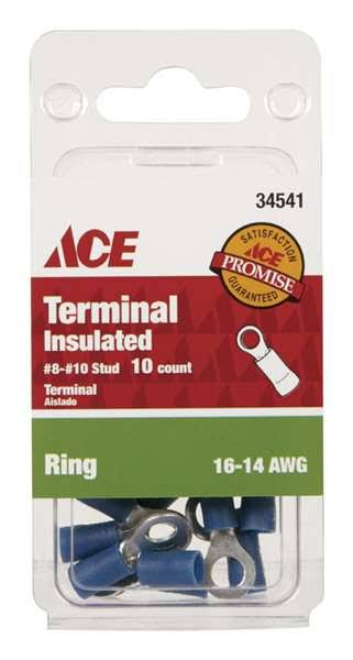 Ace Insulated Wire Ring Terminal Blue 10 Pk 34541