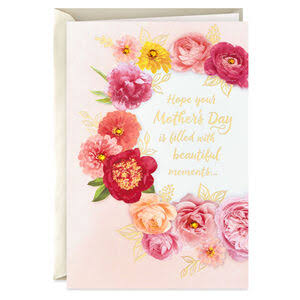 Floral Wreath Mother's Day Card from US