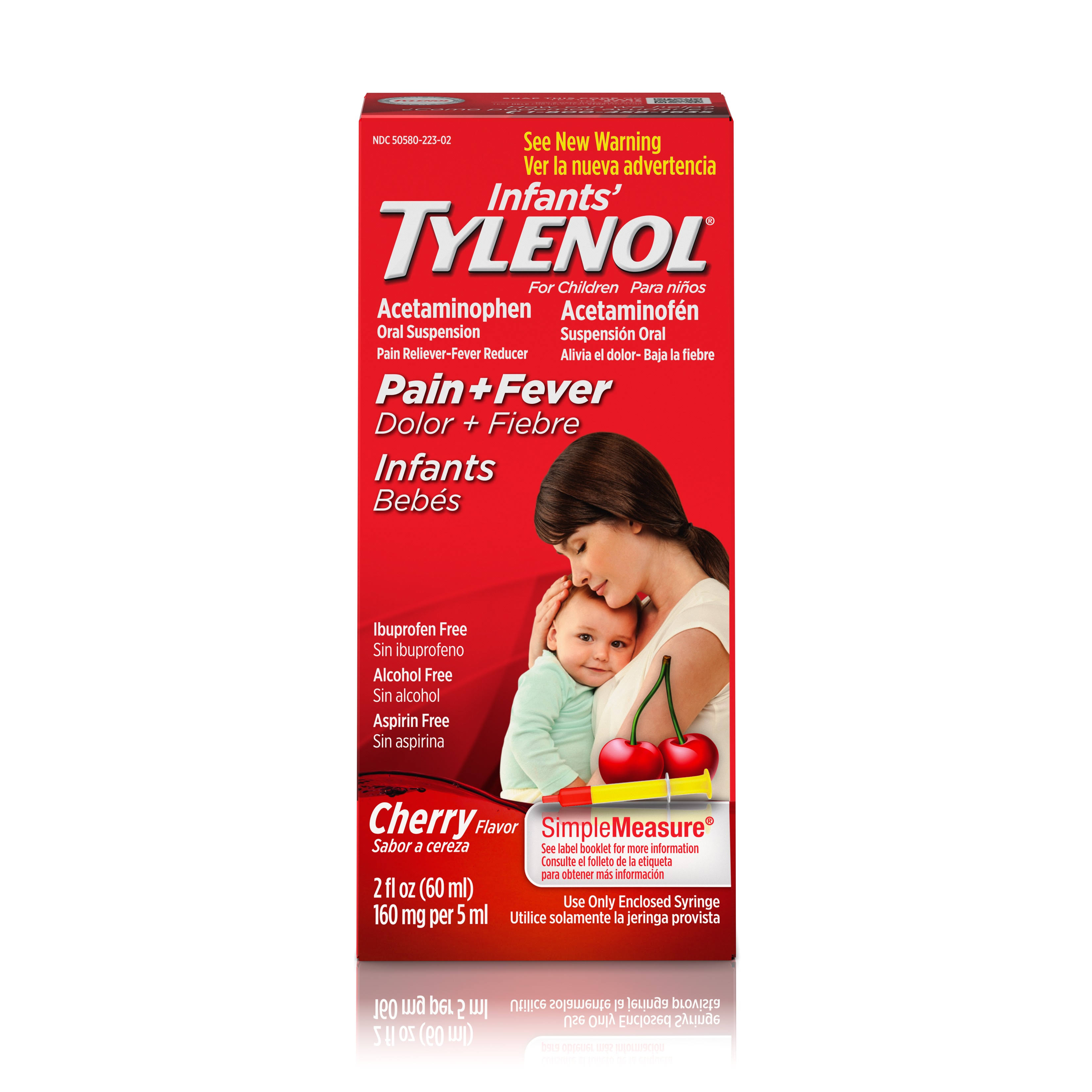 Infants' Tylenol Oral Suspension - Cherry, 60ml