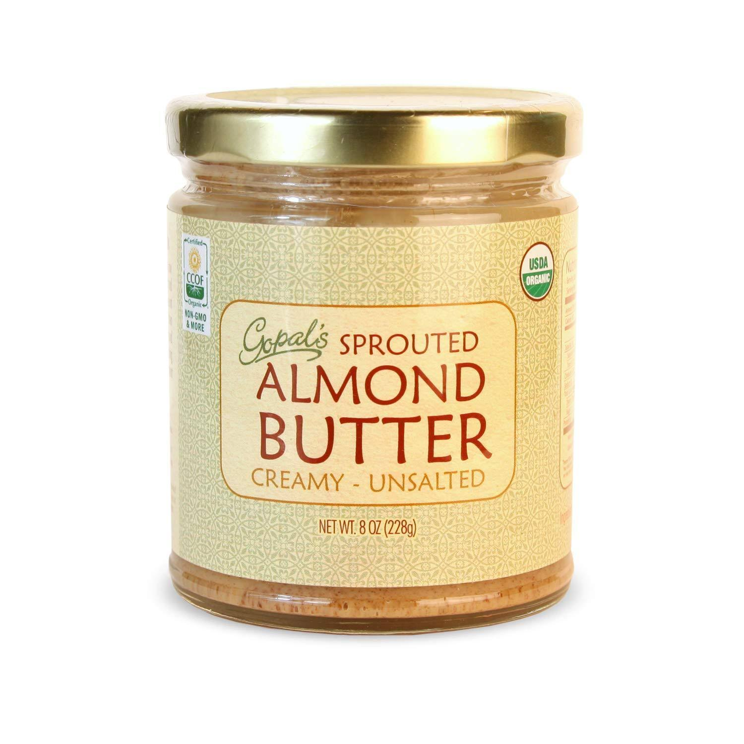 Gopal's Raw Organic Sprouted Almond Butter