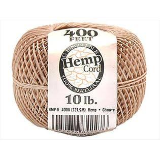 Darice Hemp Cord - Natural, 400'