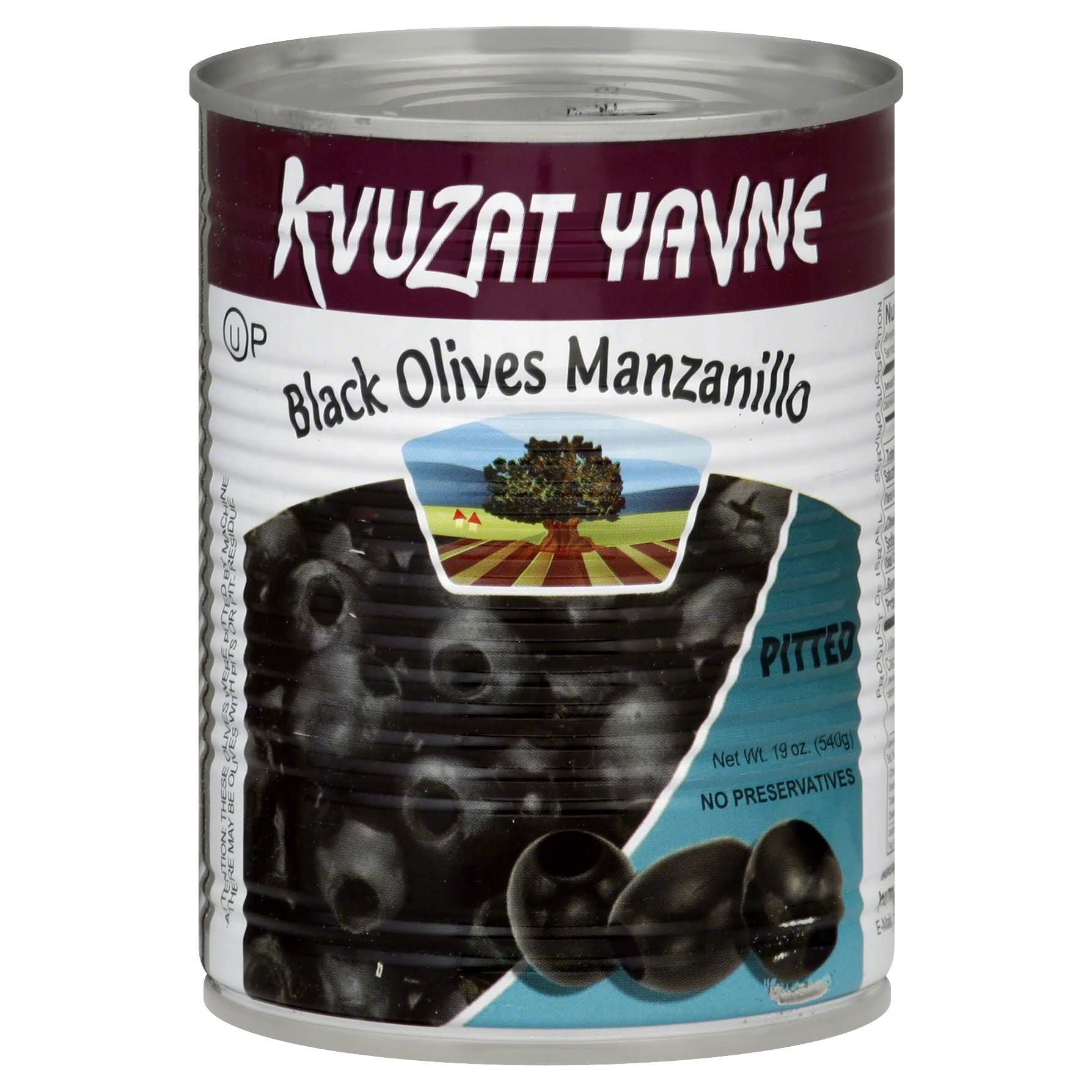 Kvuzat Yavne Olives, Black, Manzanillo, Pitted - 19 oz