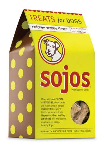 Sojos Med-Bone Shaped Dog Treats - Chicken & Veggie, 10oz