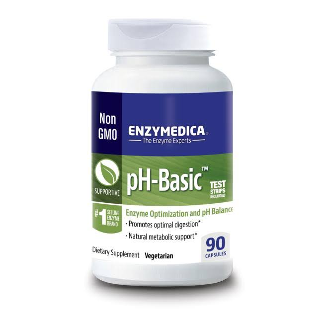 Enzymedica pH-Basic Enzyme Optimization and pH Balance Supplement - 90ct