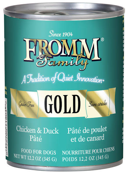 Fromm Gold Chicken & Duck Pate Canned Dog Food 12.2 oz