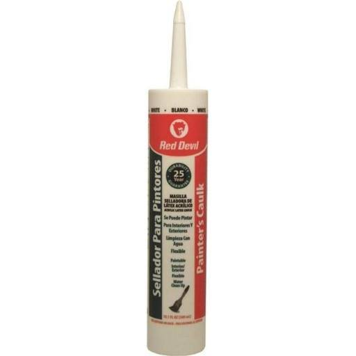 Red Devil Painters Acrylic Latex Caulk - White, 10.1oz