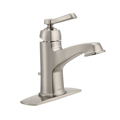 Moen Boardwalk Single Handle Bathroom Faucet - Brushed Nickel