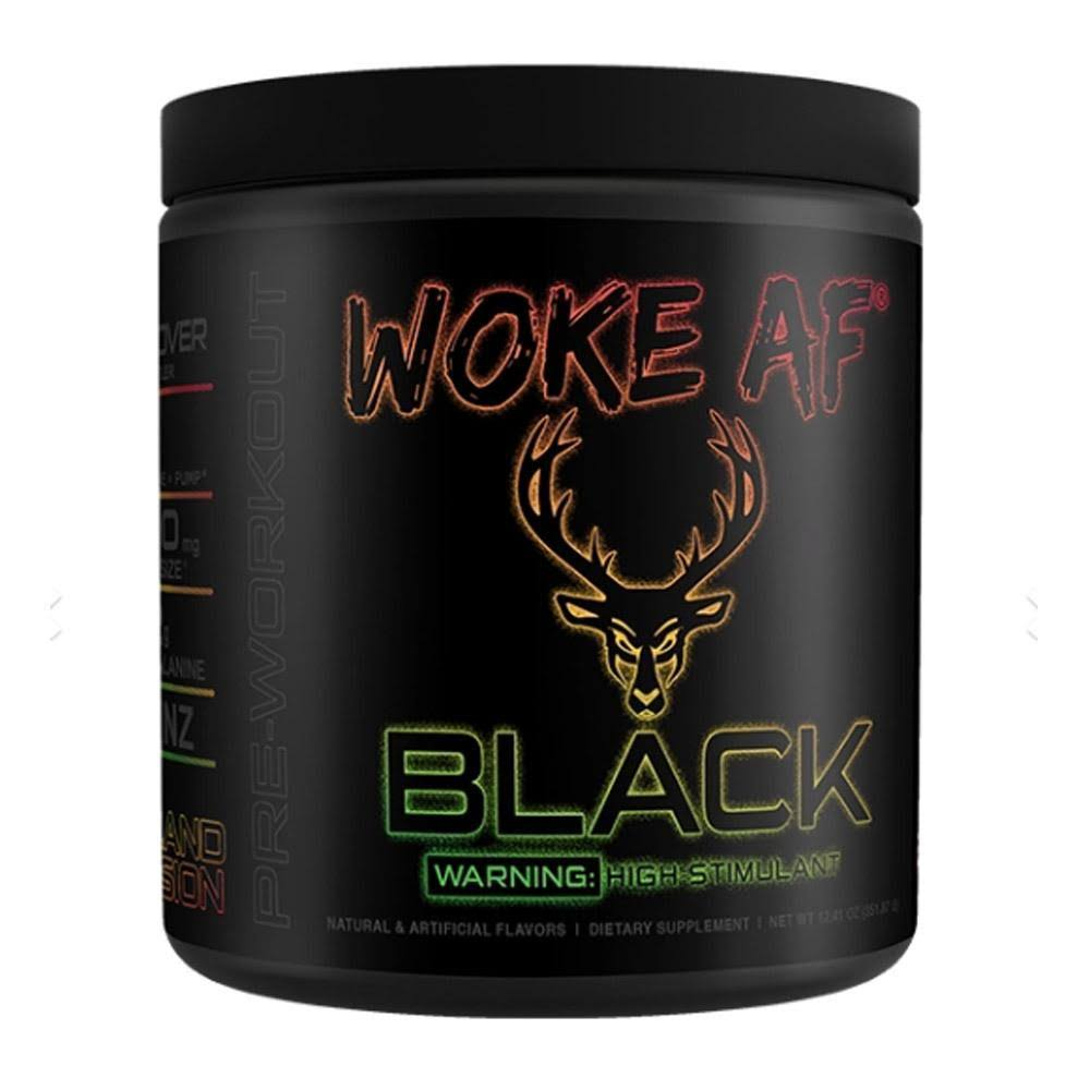Bucked Up Woke AF Black 30 Servings Island Fusion