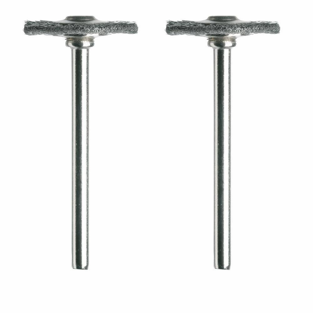 "Dremel Carbon Steel Wheel Brushes - 3/4"", 2pk"