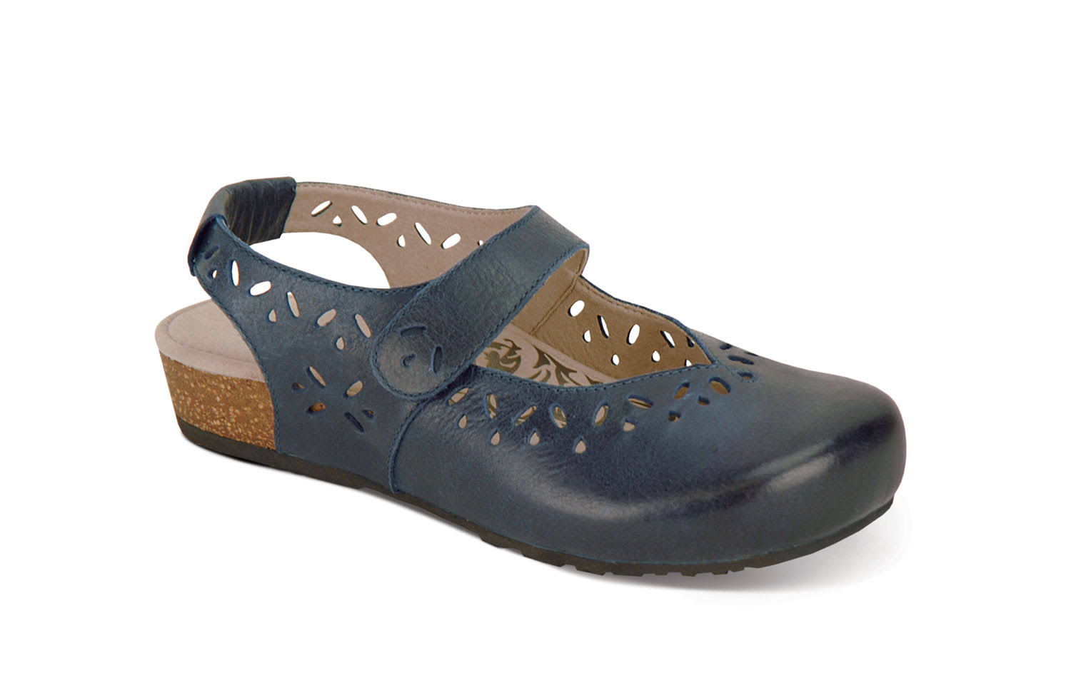 Aetrex Women's Cheryl Slingback Mary Jane - Navy