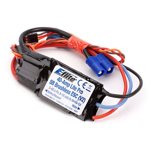 E-flite 40-Amp Lite Pro Switch-Mode Bec Brushless ESC (V2) EFLA1040LB