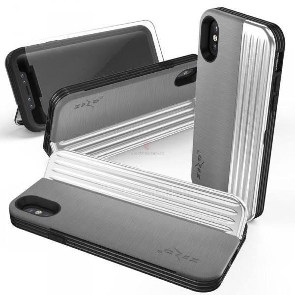 Apple iPhone x / XS - Zizo Retro Wallet Case with Protective Magnetic Closure and Built-In Kickstand - Gray/Silver