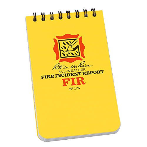 Rite in The Rain 125 All-Weather Fire Incident Report Notebook, 7.6cm x 13cm
