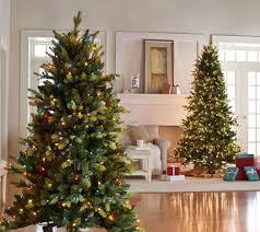 Bethlehem Lights Christmas Trees Qvc by Bethlehem Lights Prelit Noble Spruce Tree With Multi Functions