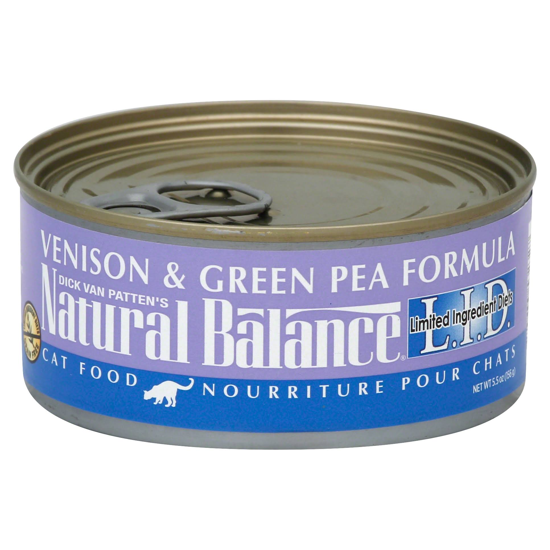Natural Balance LID Grain Free Canned Cat Food - Venison & Green Pea