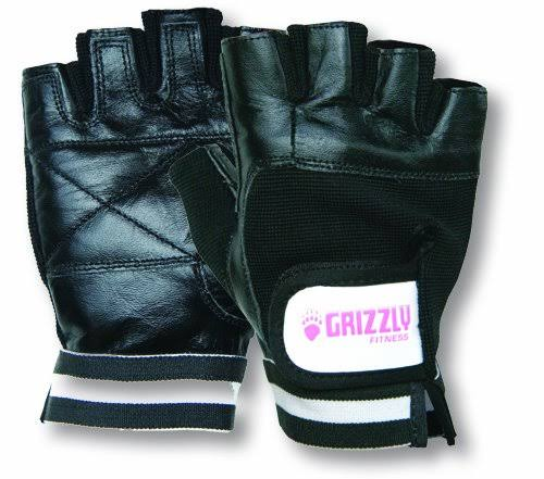 Grizzly Fitness Women's Paw Training Gloves (Black/Pink, Medium)