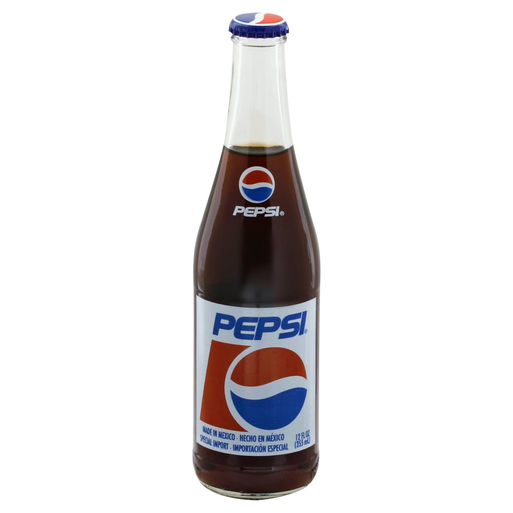 Mexican Pepsi Cola Glass Bottles - 12 Oz