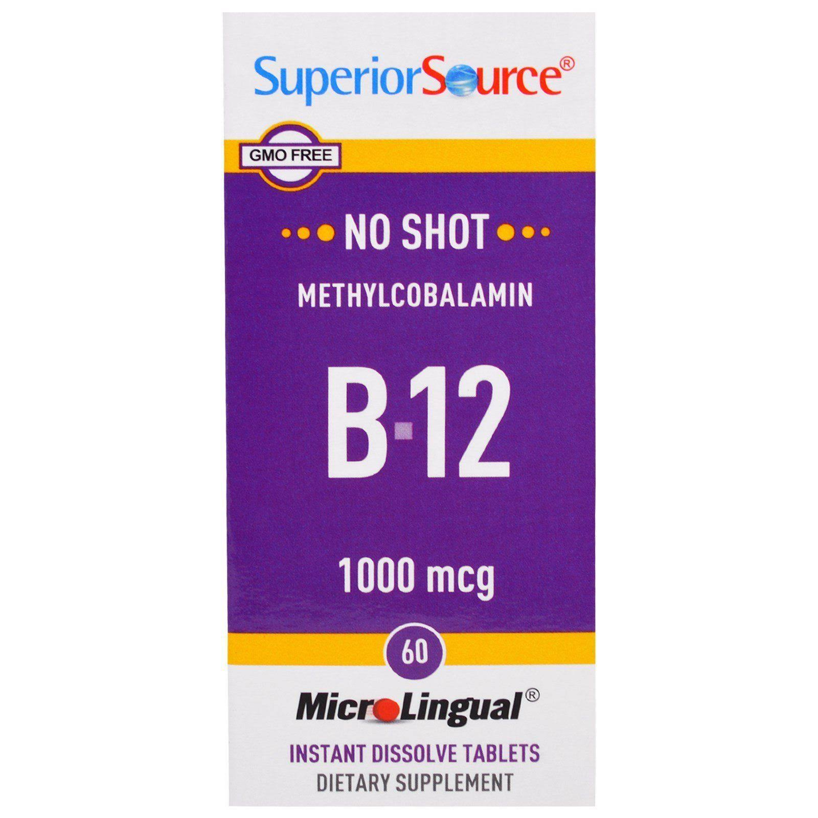 Superior Source Methylcobalamin B-12 - 1000mcg, 60 Instant Dissolve Tablets