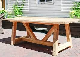 Build Your Own Outdoor Patio Table by Best 20 Outdoor Table Plans Ideas On Pinterest U2014no Signup Required