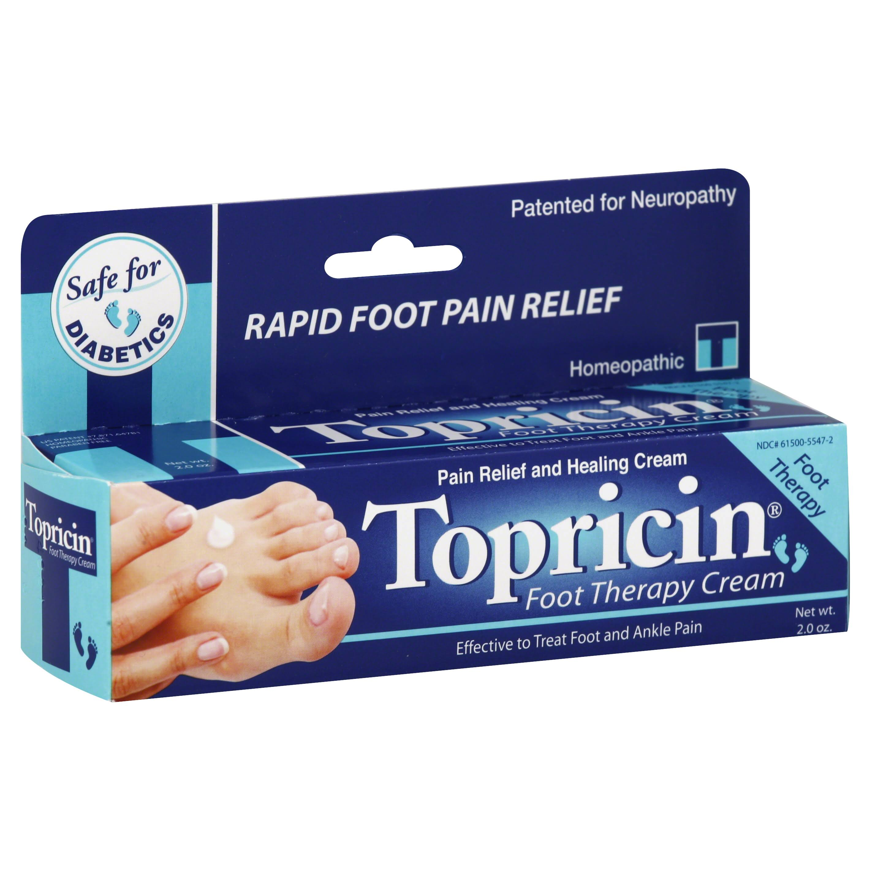 Topricin Foot Therapy Cream - 2oz