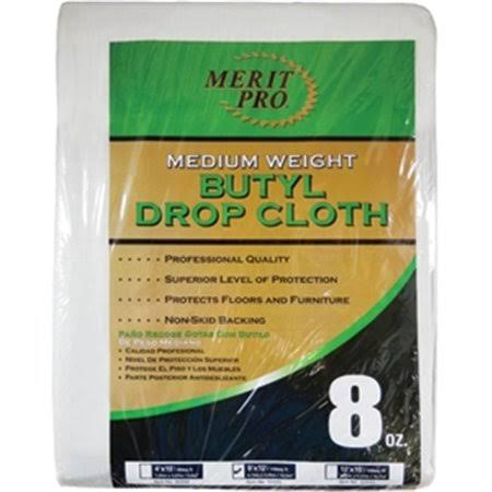 Merit Pro 2035 Medium Weight Butyl Drop Cloth - 8 oz