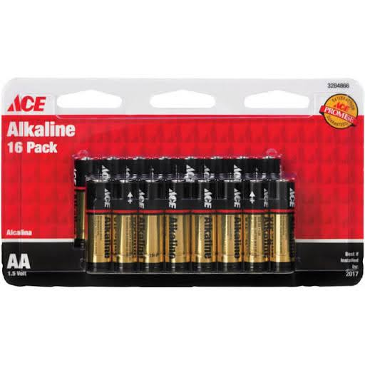 Ace Alkaline Batteries - 16 Pack, AA