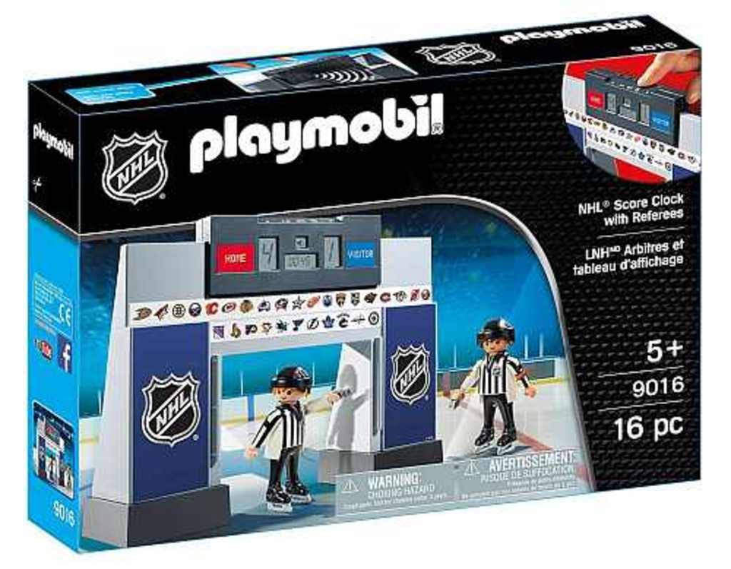 Playmobil Nhl Score Clock with 2 Referees Play Set