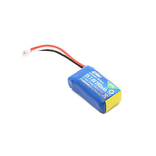 E Flite Lipo Battery Umx Bnf Airplane - 280mah, 7.4V