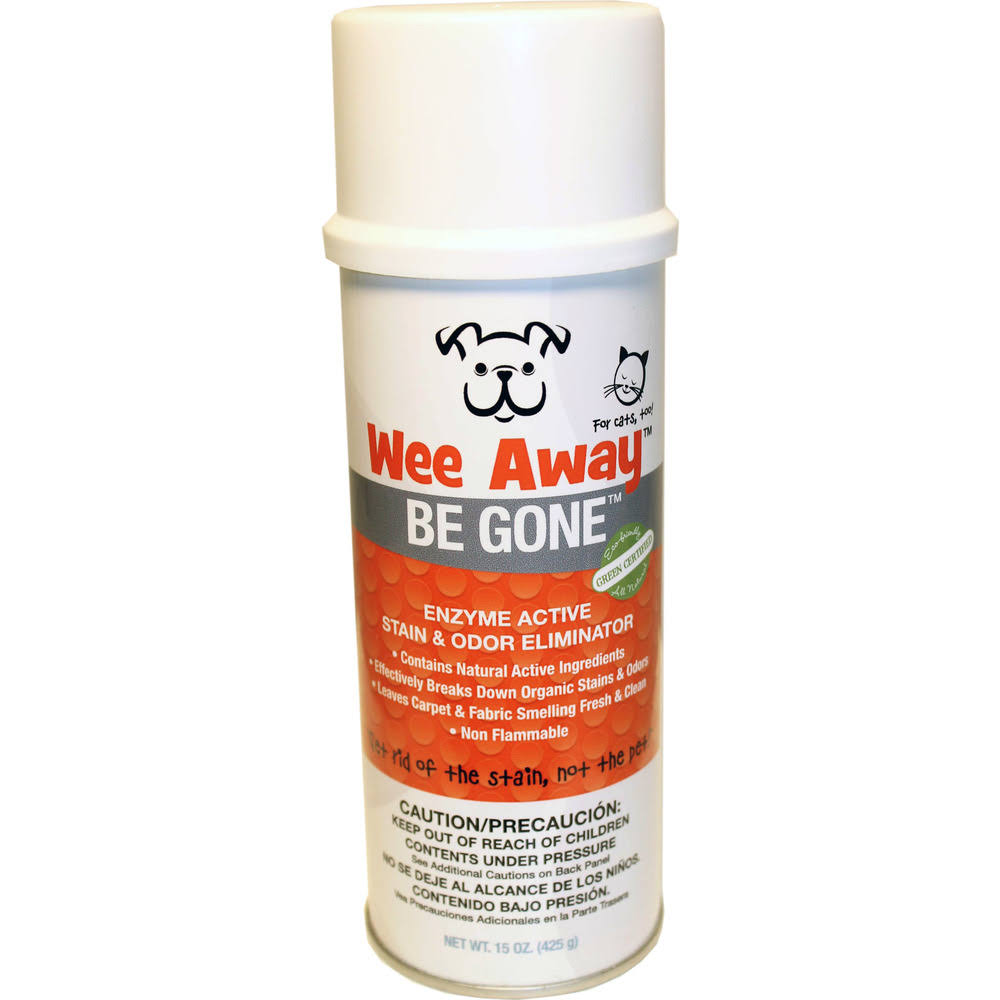 Wee Away Be Gone Ultimate Pet Stain Odor Eliminator Remover - 15oz