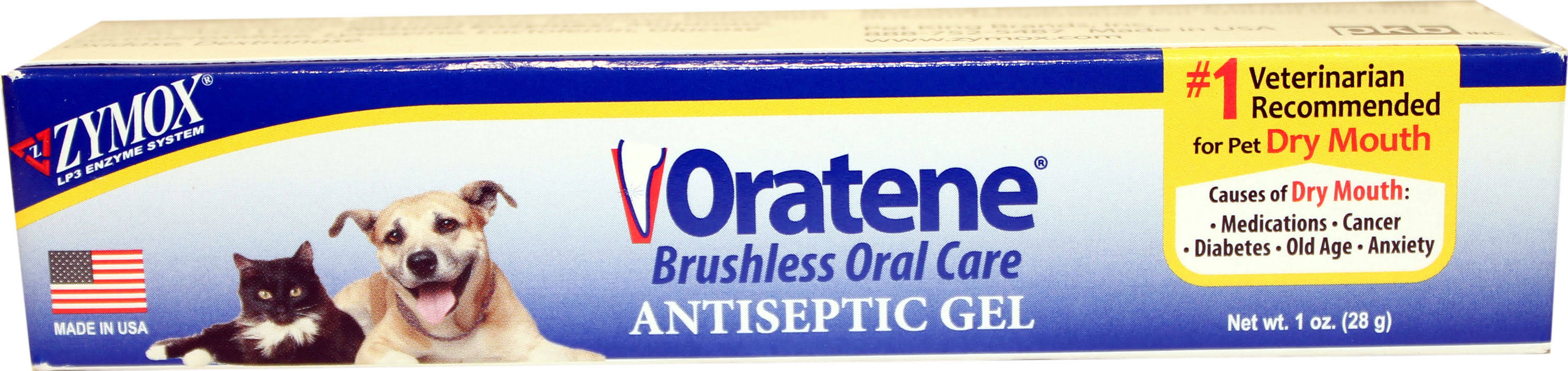 Oratene Veterinarian Antiseptic Oral Gel for Dogs and Cats - 1oz