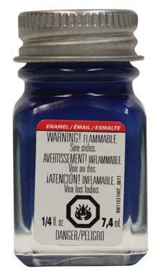 Testors Dark Blue Enamel Paint 1/4 oz 1111TT