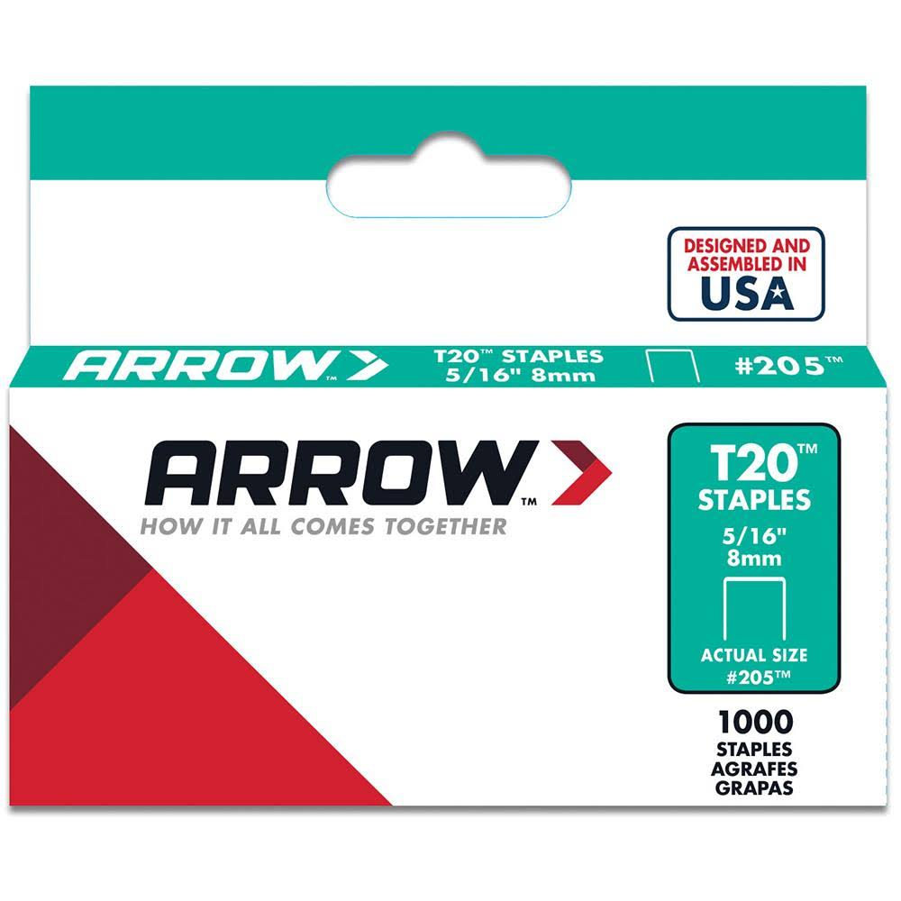 Arrow T20 Genuine Arrow Staples - 1000 staples