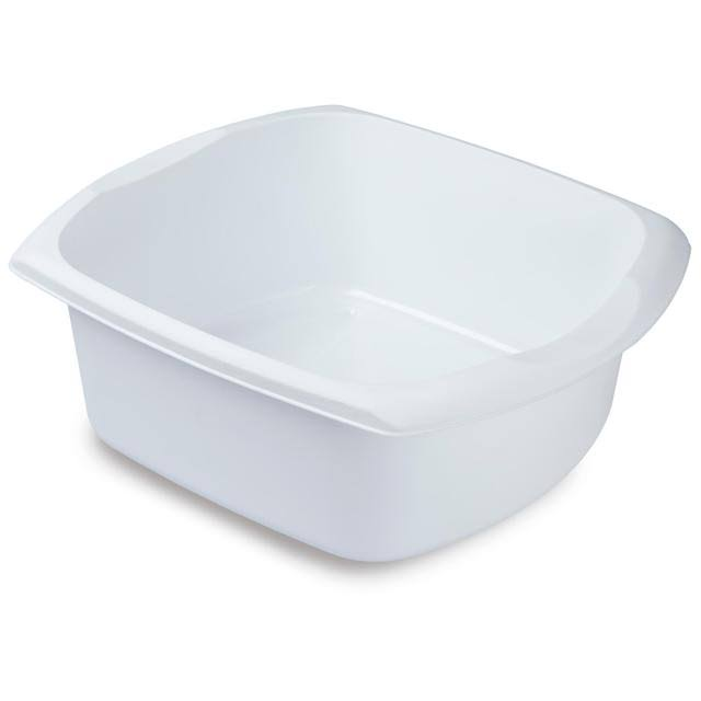 Addis Rectangular Washing Up Bowl - White Large