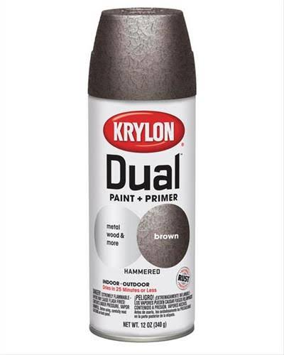Krylon 8842 Dual Paint with Primer - Brown Hammered; 12oz