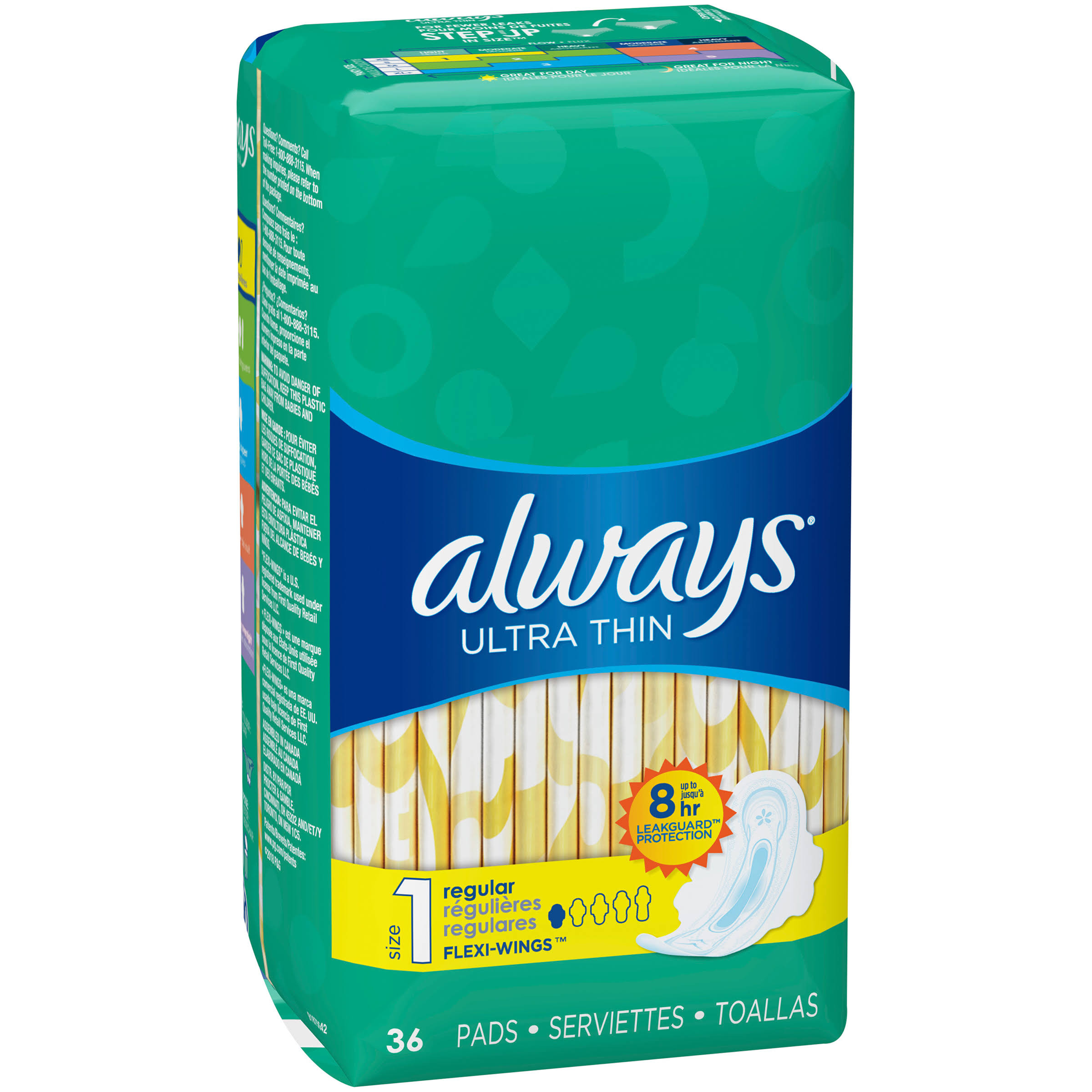 Always Ultra Thin Regular Pads - 36 ct