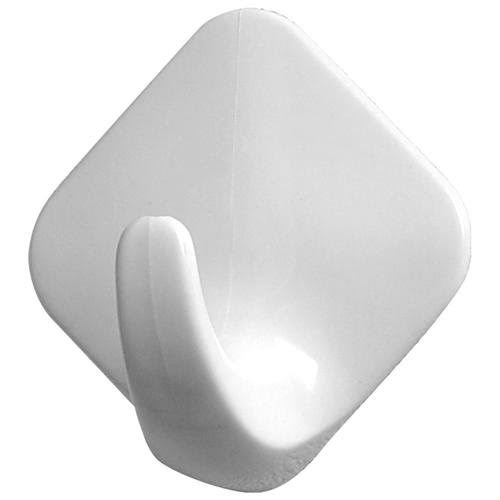 Spectrum Diversified 26800 Small White Diamond Adhesive Hooks 2 Count