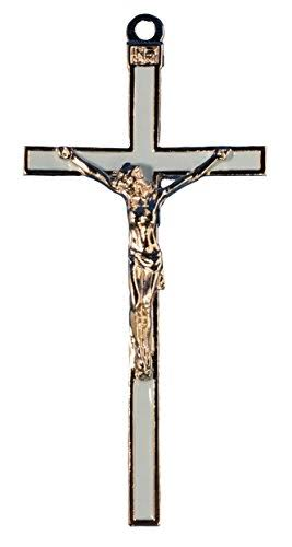 McVan 5 inch Blue Enamel Crucifix, Boxed