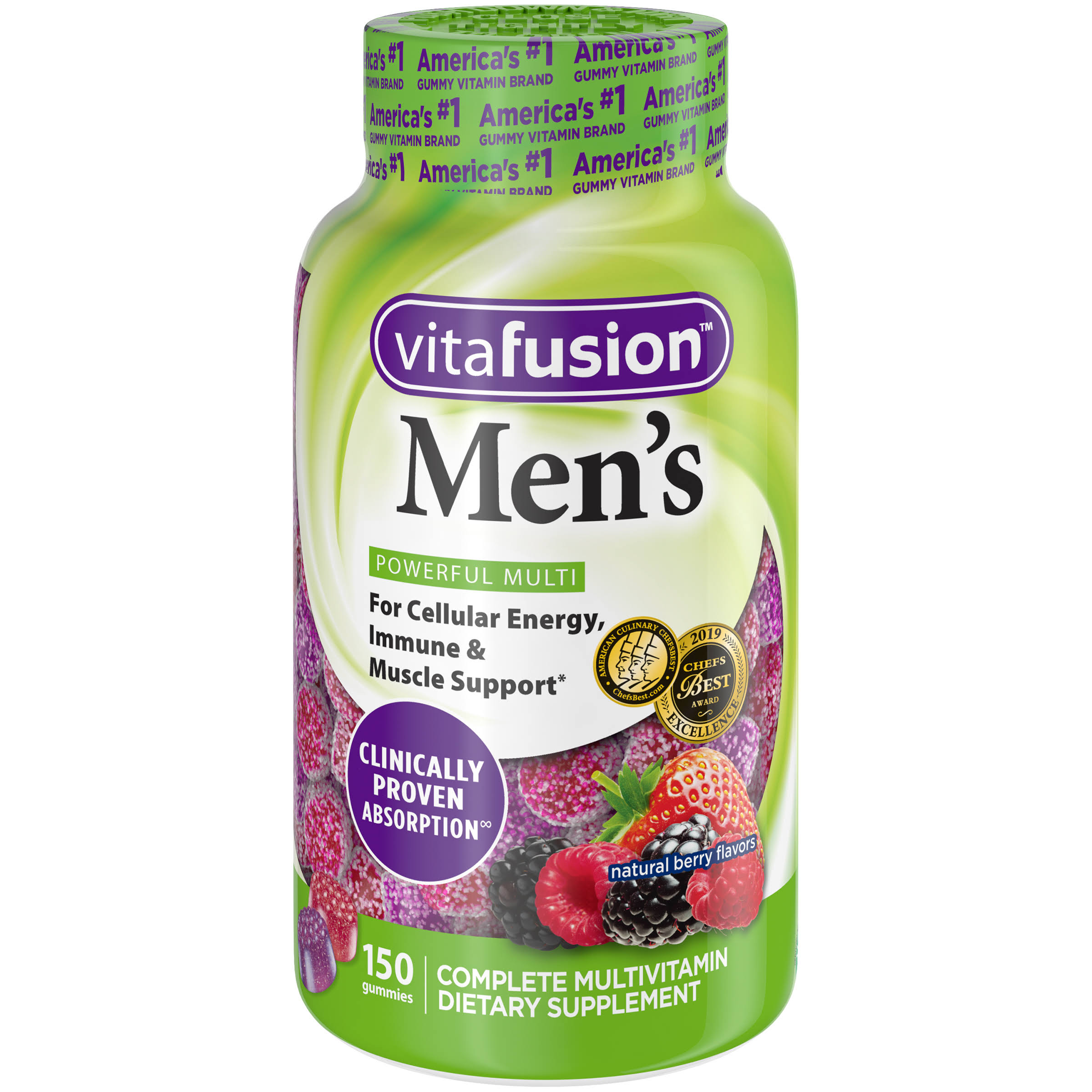 Vitafusion Men's Gummy Vitamins - 150ct, Berry Flavor